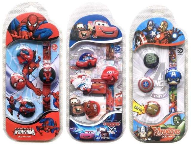 (預購S) 卡通兒童換裝不同造型錶蓋電子錶5入組