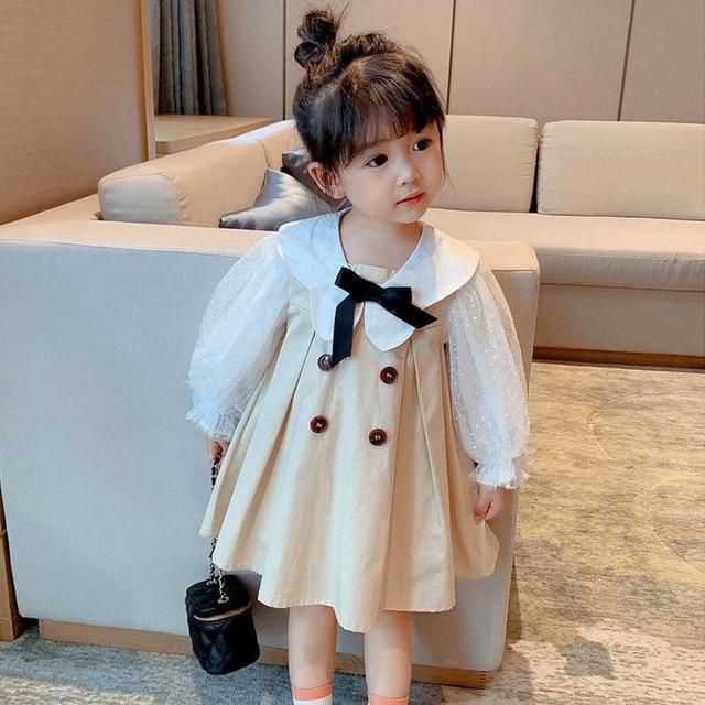 KD06-02 韓版蝴蝶結公主裙洋裝