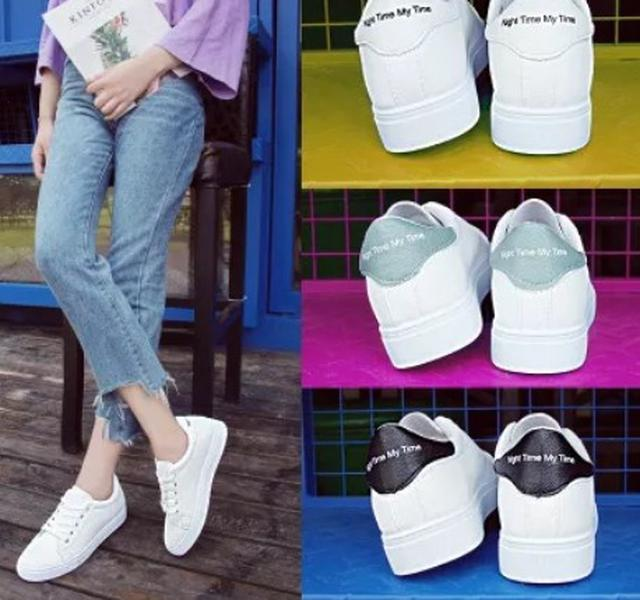 【預購】休閒厚底小白鞋