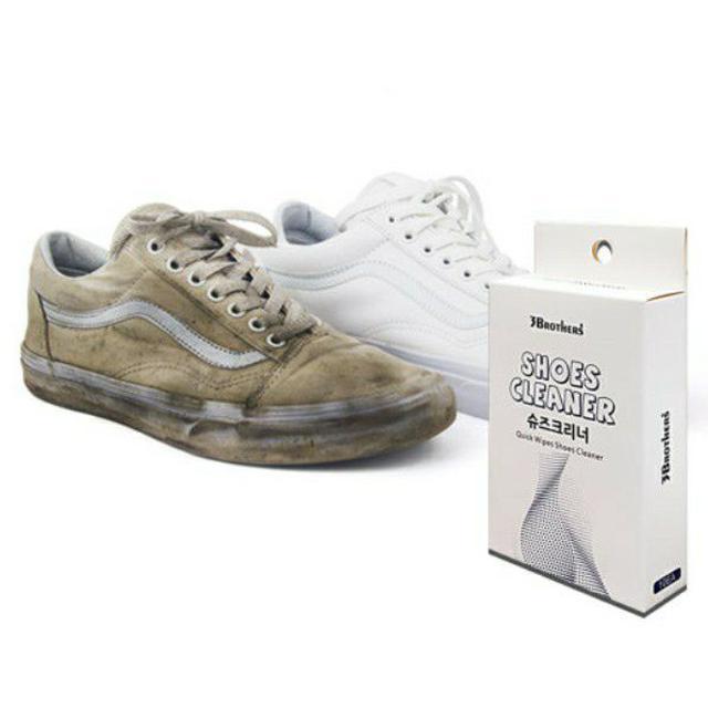 韓國 3BROTHERS shoes cleaner 鞋用濕紙巾 10入/盒