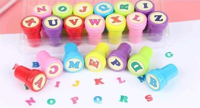現貨字母/數字(預購S) 兒童教學英文數字小印章26入組