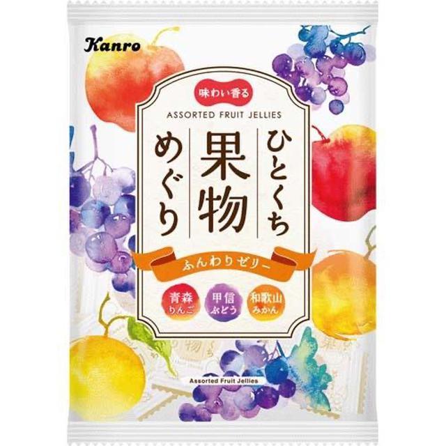 日本🇯🇵Kanro 青森蘋果 甲信葡萄 和歌山橘子 果汁果凍