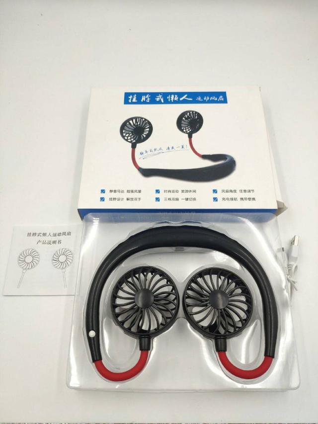 【N.T.F-現貨+預購款】韓版頸環掛脖USB充電三段風扇