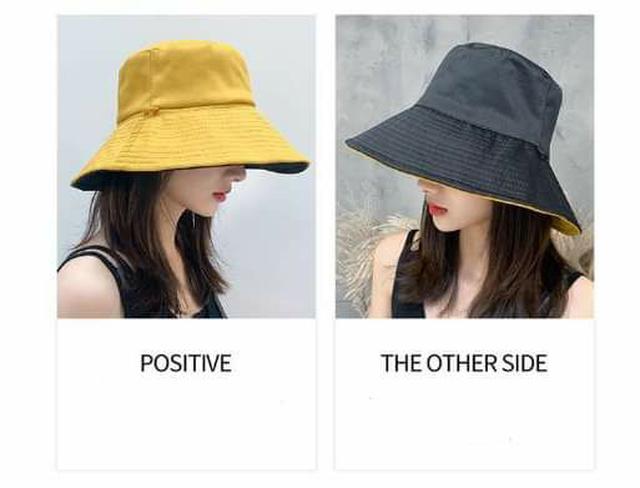 (預購S) 雙面顏色設計防風綁帶大帽沿漁夫帽