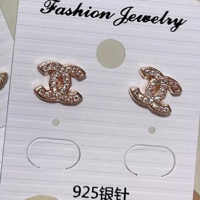 s925純銀項鏈 鋯石滿鑽超閃保色Chanel鎖骨鏈 防過敏小巧精美頸鏈 高檔飾品  925銀