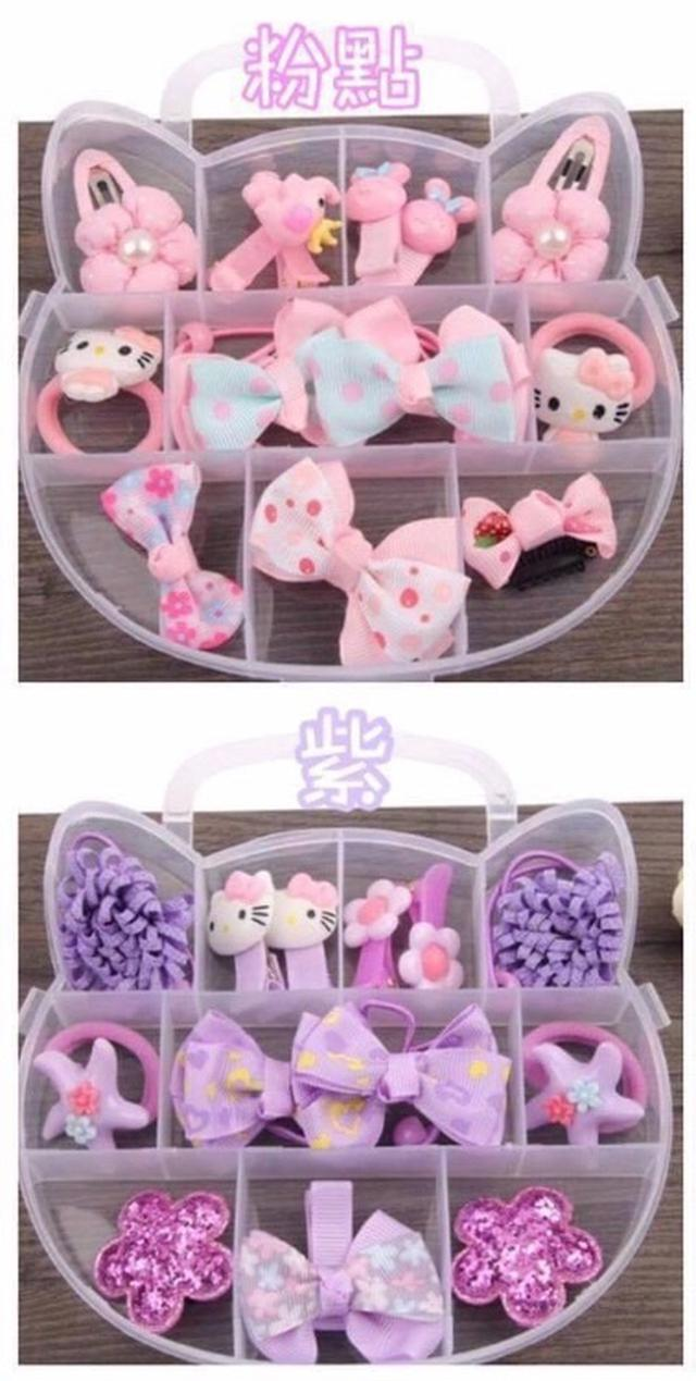 kitty造型綜合髮飾盒