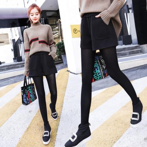 11 流行款 M-2XL 韓版 修身毛呢闊腿 休閒靴褲(3色)