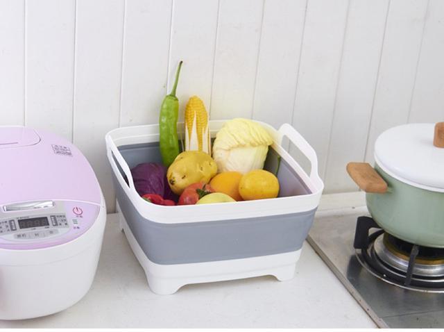 多功能折疊洗菜瀝水籃可折疊水槽