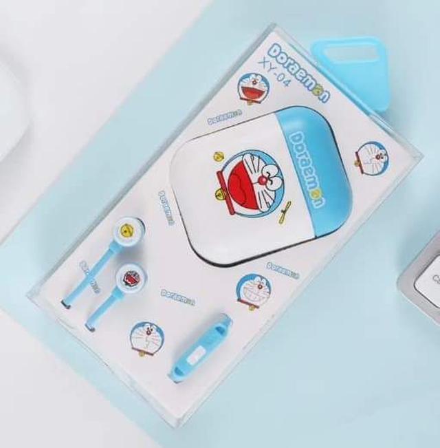 (預購S) 卡通耳塞式耳機帶麥+收納盒套組