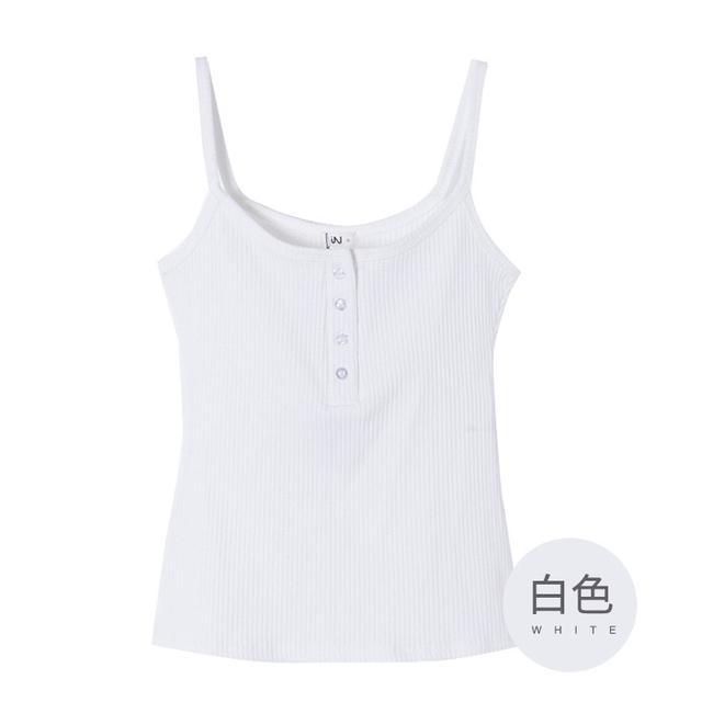 韓版性感單色低胸背心上衣