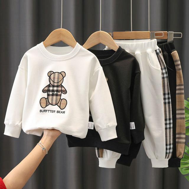 童裝2021春裝新款套裝男童長袖薄款1-3歲男孩小童