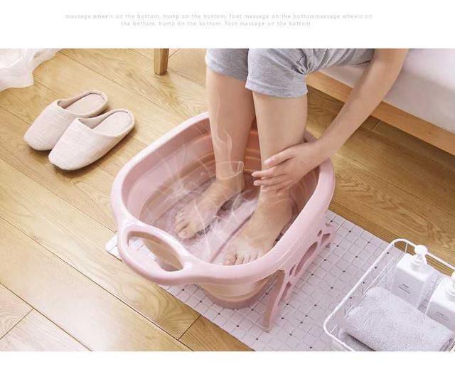 [雜貨店]💋居家北歐風可折疊按摩洗腳足浴盆