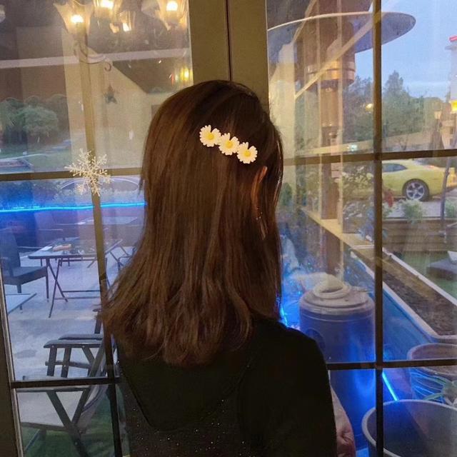 (預購)韓國小雛菊髮夾+髮圈套組