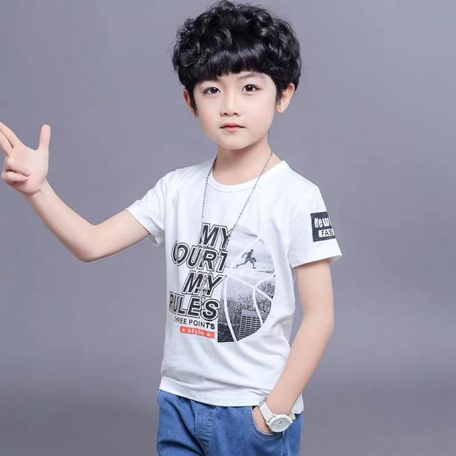 男童T恤夏装短袖童装中大童宝宝休闲上衣小孩子夏季纯棉半袖衣服