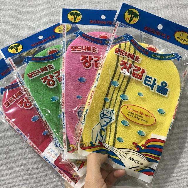 現貨 韓國老奶奶搓澡巾手套