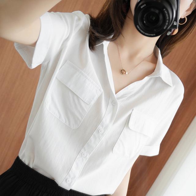 預購夏季日系純棉短袖襯衫