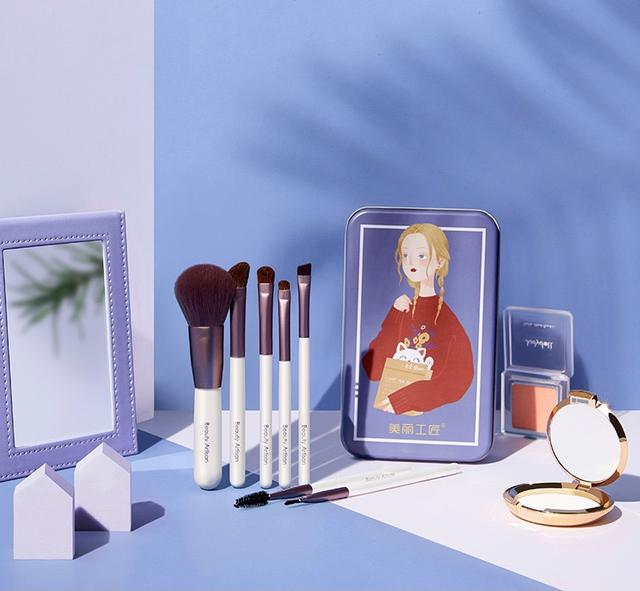 ✨7支化妝刷套組-鐵盒✨