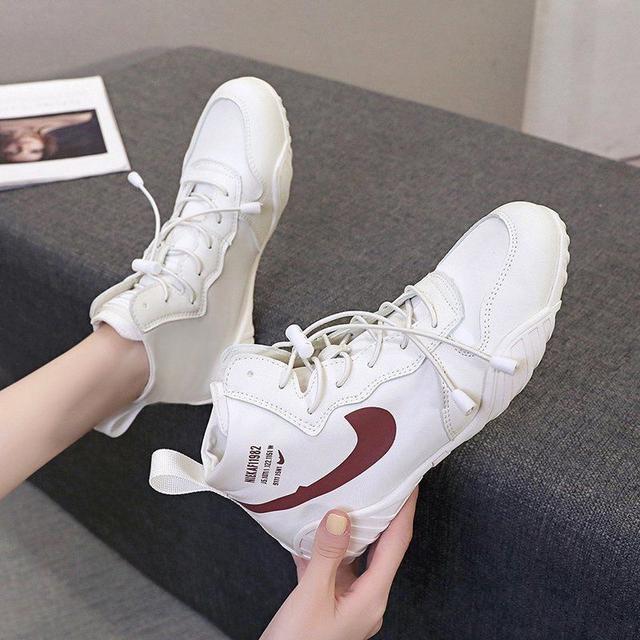 高幫帆布鞋女2020秋季新款ins網紅休閒透氣百搭平底女鞋