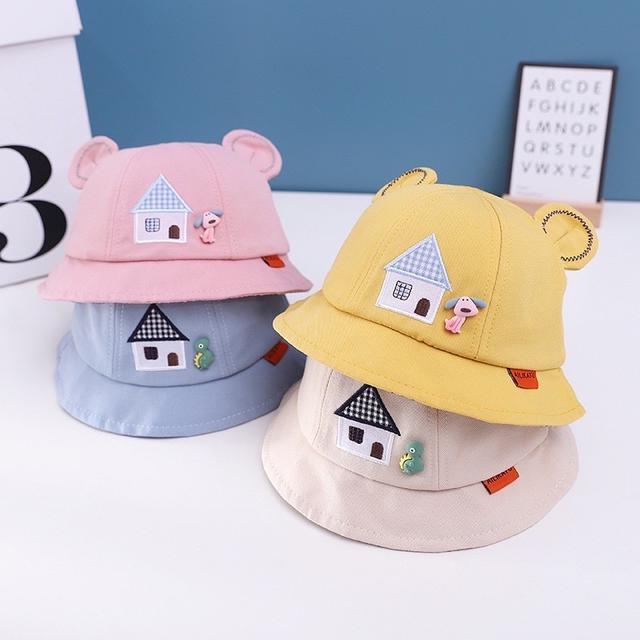 🔥台灣少量現貨🔥 童帽 春季新款嬰幼兒帽子 寶寶防曬漁夫帽童 寵物風