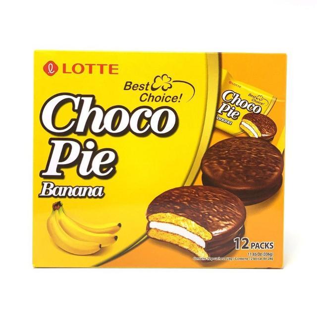 (預購)(9)LOTTE 香蕉可可餅(共七入)
