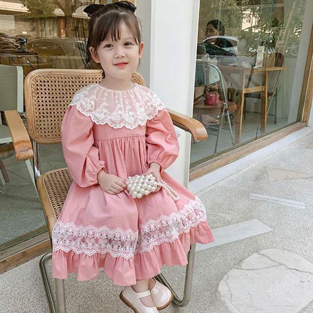 【預購】公主風蕾絲拼接洋裝