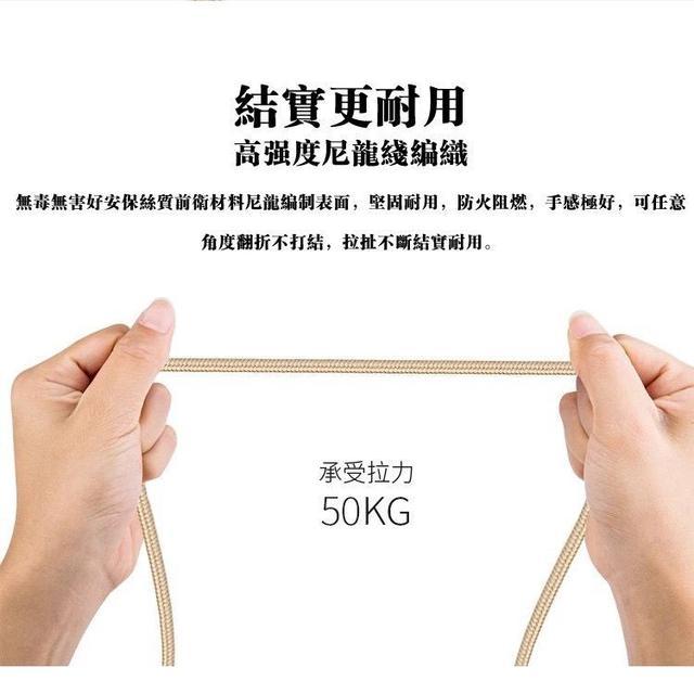 1.5M 金屬線 iphone5/6 USB快速充電iOS充電/傳輸二合一編織傳輸線