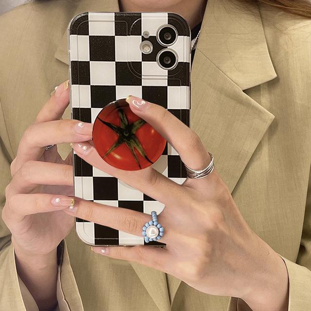 預購 ins風 簡約設計 棋盤設計 iphone手機殼