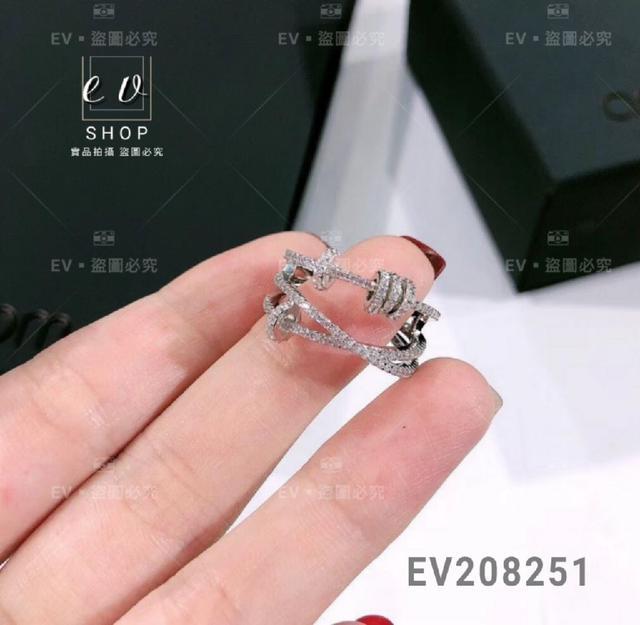 正生銀飾 S925 鑲晶鑽開口戒 EV208251