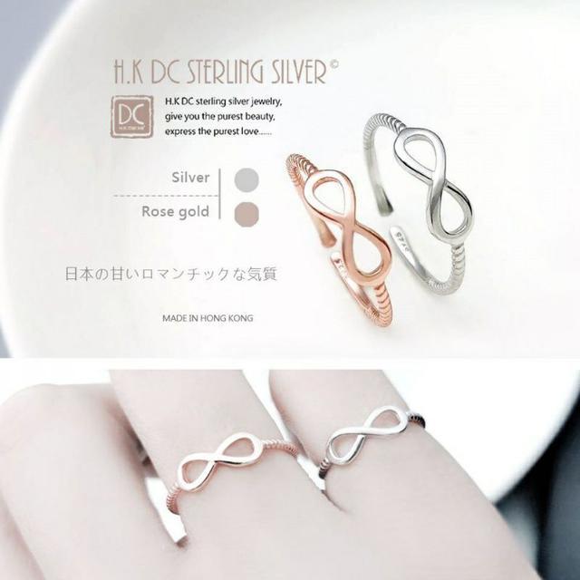 <日系氣質無盡的愛>無限完美氣質螺紋戒指(可當尾戒)(玫/銀)