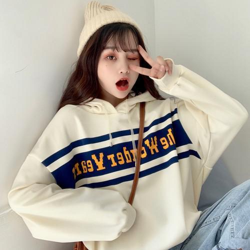 11 流行款 M-XL 韓版 加絨印花連帽衛衣