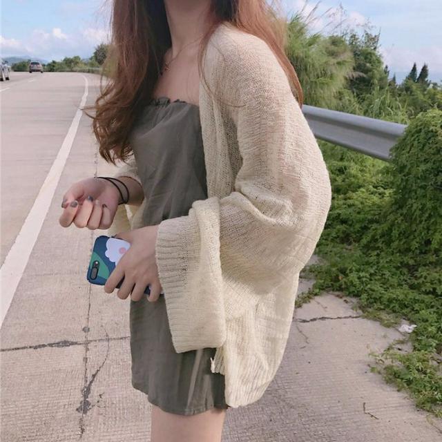 春夏仙女針織薄外套