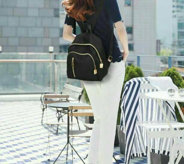 韓式風格多用雙肩包
