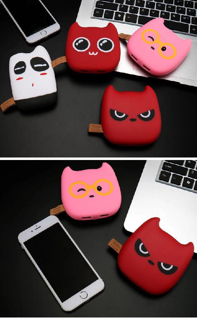 惡魔貓造型行動電源10000毫安
