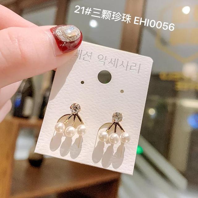 (19~21款)925純銀小耳釘冷淡風個性氣質簡約ins網紅韓國東大門耳飾耳環