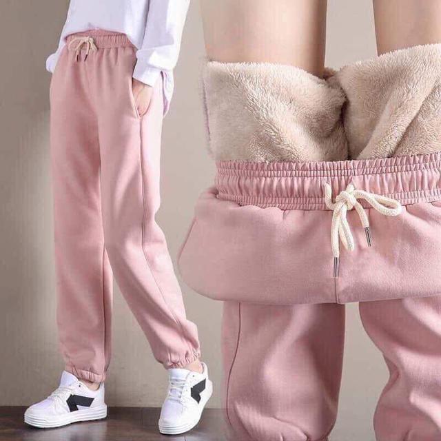 加絨加厚休閒褲