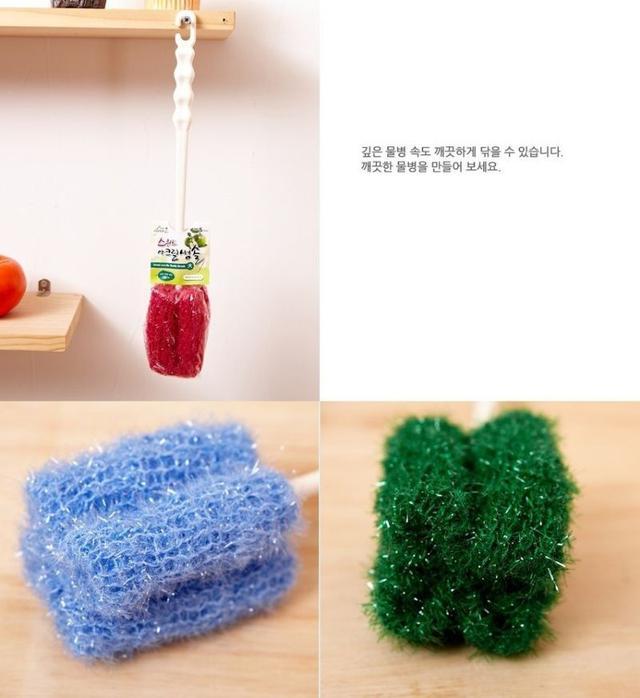 韓國手工製長柄不發霉洗杯刷