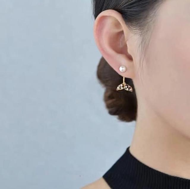 韓國925銀針珍珠美人魚尾巴耳環