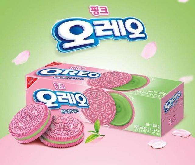 韓國 Oreo 春天櫻花限定款 櫻花抹茶口味 84g 兩盒/組