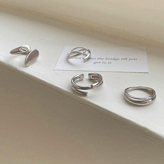 不規則個性潮人精緻IG冷淡風女生簡約925純銀戒指韓版男時尚指環