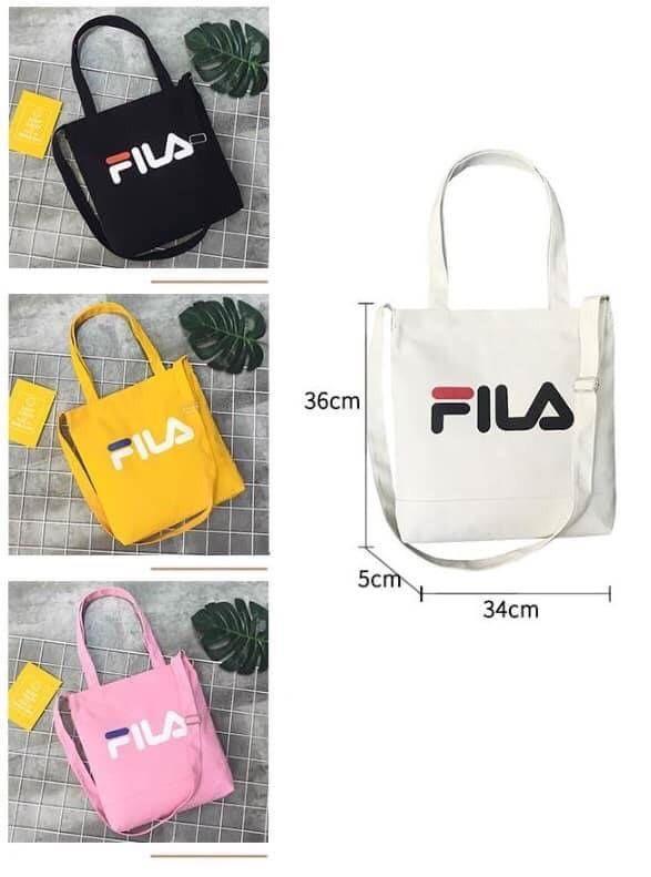 FILA兩用短手提長肩帶帆布包