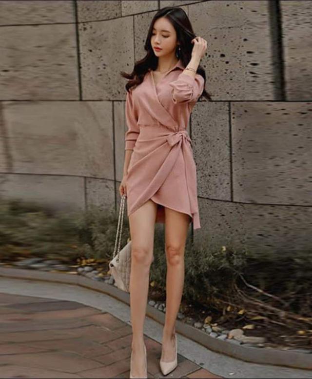 【預購】不規則修身洋裝