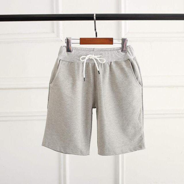 高磅純棉男女可穿百搭休閒短褲
