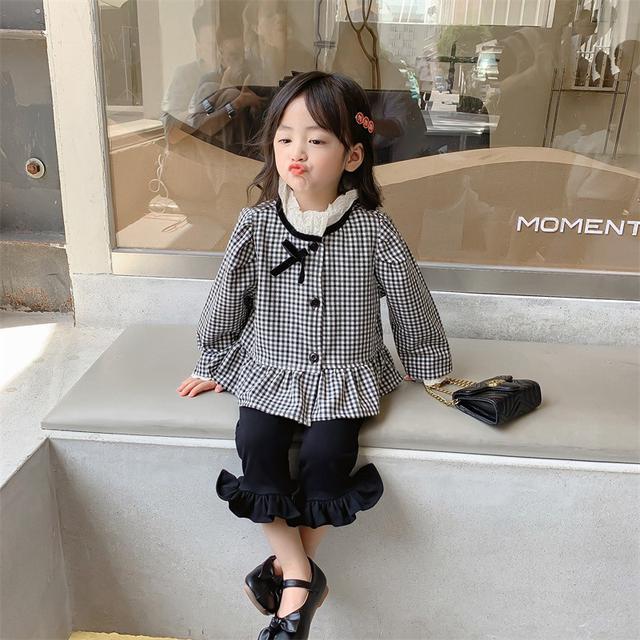 新款秋装女童套装女寶寶秋季衣服(貝)