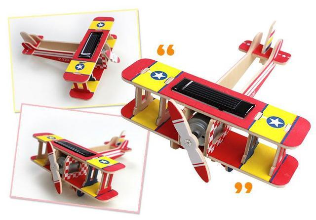 益智科學 太陽能雙翼戰鬥機(紅色)