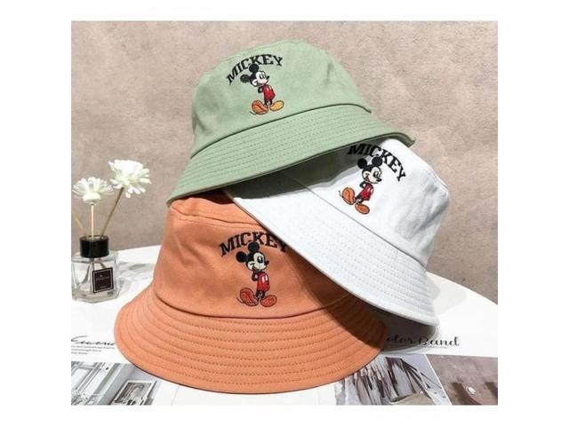 韓國秋冬米老鼠刺繡漁夫帽