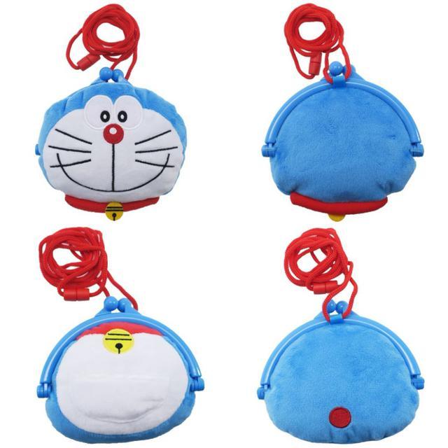 哆啦A夢 毛絨 造型小包 零錢包