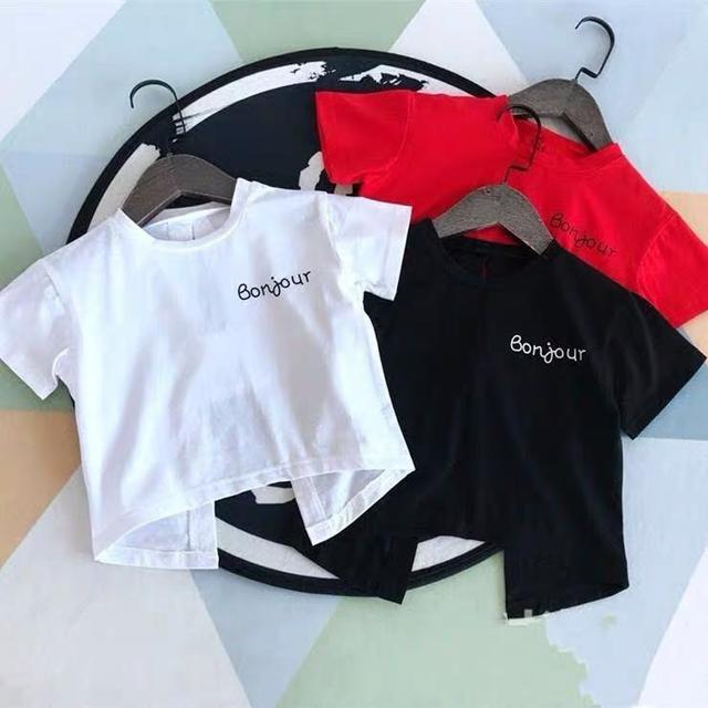 (預購)女童寶寶露背短袖T恤2020純棉婴兒童装中小童夏季衣服0-1-2-3歲潮