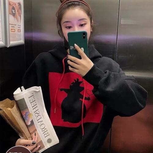 11 流行款 M-2XL 韓版 愛麗絲剪影加絨衛衣(2色)