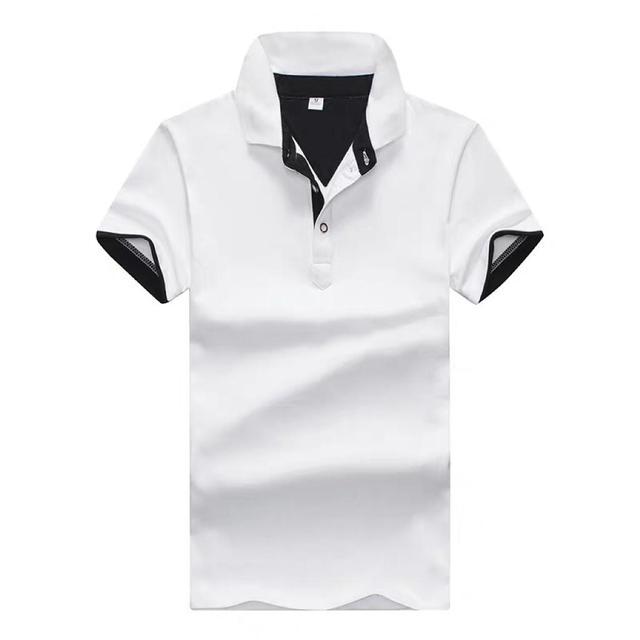 短袖t恤夏季新款青年男士商务休闲体恤翻领修身半袖polo衫男