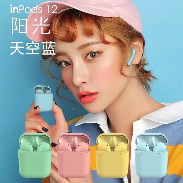 馬卡龍多彩INPODS12 HIFI觸控耳機